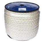 12mm 8 strand white nylon rope - 100m reel